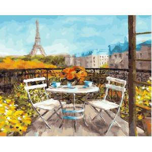 """GХ25523 Картина по номерам """"Солнечное утро в Париже"""", 40х50 см"""
