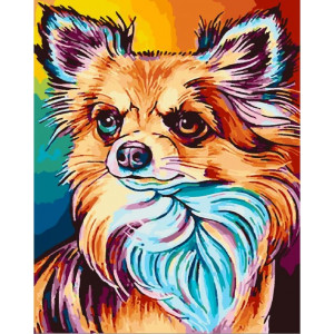 "GХ25528 Картина по номерам ""Разноцветная чихуахуа"", 40х50 см"