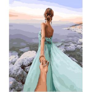 """GХ25531 Картина по номерам """"Следуй за мной.Морской бриз."""", 40х50 см"""