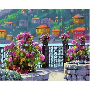"GХ25535 Картина по номерам ""Набережная в цветах"", 40х50 см"