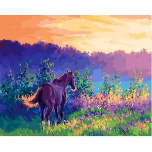 "GХ25539 Картина по номерам ""К водопою на рассвете"", 40х50 см"