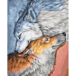 "GХ25541 Картина по номерам ""Волчья верность"", 40х50 см"