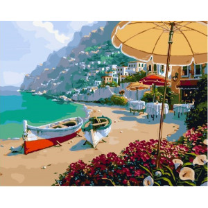 "GХ25545 Картина по номерам ""Кафе на побережье"", 40х50 см"