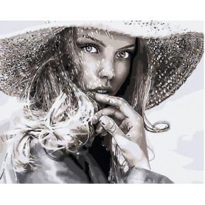 "GХ25547 Картина по номерам ""Незнакомка в шляпе"", 40х50 см"
