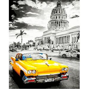 """GХ25550 Картина по номерам """"Желтое такси"""", 40х50 см"""