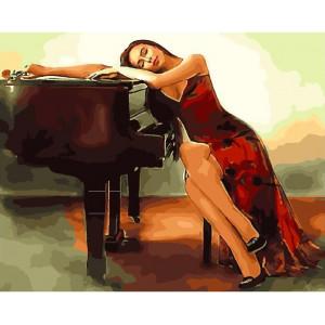 """GХ25556 Картина по номерам """"За роялем"""", 40х50 см"""