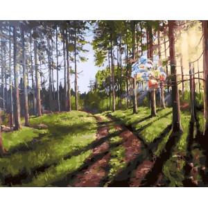 """GХ25567 Картина по номерам """"Дорога через лес"""", 40х50 см"""