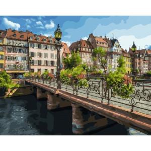 "GX25579 Картина по номерам ""Мост в Страсбурге"", 40х50 см"