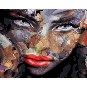 """GX25613 Картина по номерам """"Взгляд осени"""", 40х50 см"""