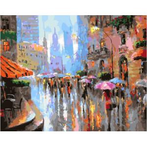 """GX25614 Картина по номерам """"Летний дождь"""", 40х50 см"""