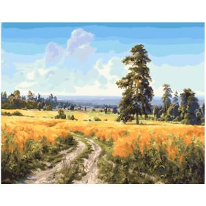 """GX25617 Картина по номерам """"Дорого через поле"""", 40х50 см"""