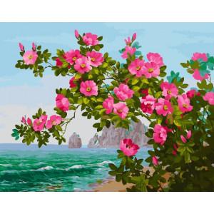 "GX26067 Картина по номерам ""Цветущий куст на берегу"", 40х50 см"
