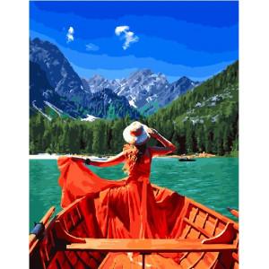 """GX26311 Картина по номерам """"Девушка в лодке"""", 40х50 см"""
