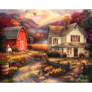 Картина по номерам 40х50 GX 26357 Деревня в горах