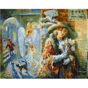 """GХ26432 Картина по номерам """"Ангел несущий свет"""", 40х50 см"""