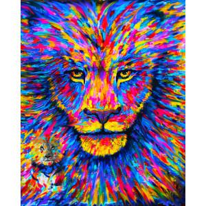 "GX26793 ""Цветной лев"", 40х50 см"