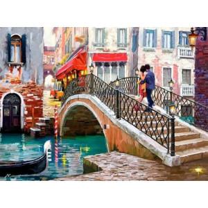 "GX26807 ""Пара на мосту в Венеции"", 40х50 см"
