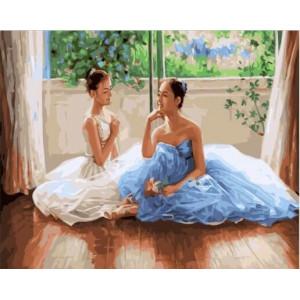 """GХ23247 Картины по номерам """"Душевный разговор в балетном классе"""", 40х50 см"""