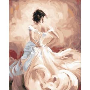 """GХ23215 Картины по номерам """"Девушка в бальном платье"""", 40х50 см"""