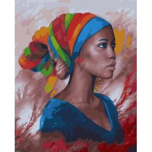 """GХ23251 Картины по номерам """"Портрет Африканки"""", 40х50 см"""