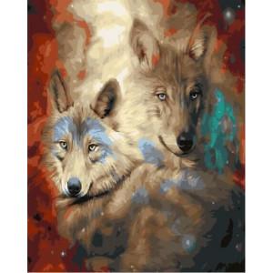 """GХ23257 Картины по номерам """"Звездные волки"""", 40х50 см"""