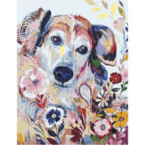 """GХ4298 Картины по номерам """"Разноцветный пес"""", 40х50 см"""