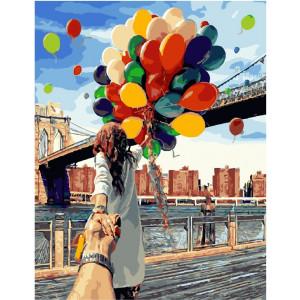 "GX4371 Картина по номерам ""Воздушные шары"", 40х50 см"