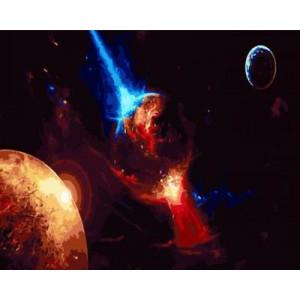 """GХ4405 """"Луч сквозь планету"""" , 40х50 см"""