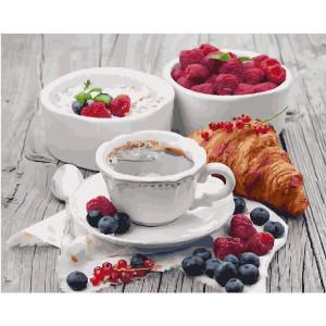 "GX5509 Картина по номерам ""Французский завтрак"" 40х50 см"