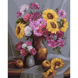 Картина по номерам 40х50 GX 9458 Букет полевых цветов 40x50 см