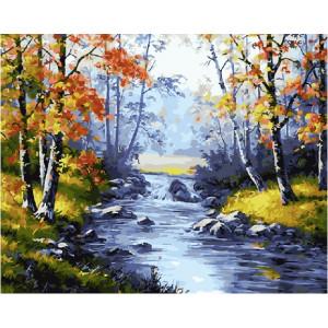 """GX21076 Картина по номерам """"Осенний лес"""", 40х50 см"""