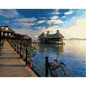"GХ21115 Картины по номерам ""Бунгало на Мальдивах"", 40х50 см"