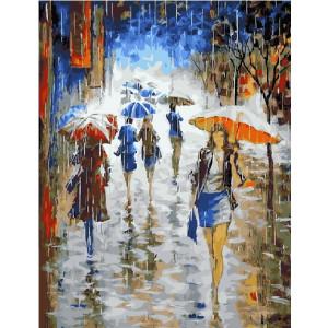 """GX21148 Картина по номерам """"Проливной дождь"""", 40х50 см"""