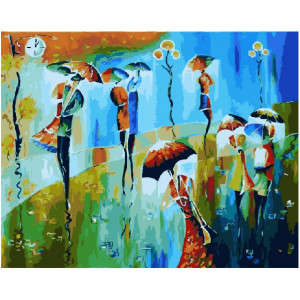 """GХ21376 Картины по номерам """"Радуга дождя"""", 40х50 см"""