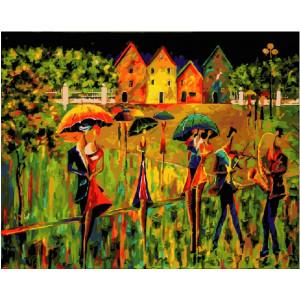 "GХ21377 Картины по номерам ""Танцы под дождем"", 40х50 см"