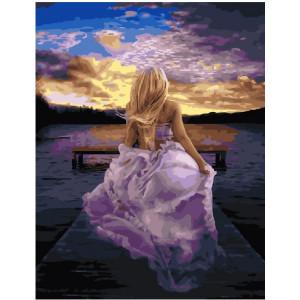 "GX21738 Картина по номерам ""Девушка на пирсе"", 40х50 см"