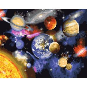 "GX22268 Картина по номерам ""Парад планет"", 40х50 см"