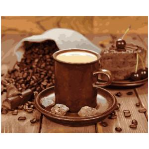"""GX22981 Картина по номерам """"Кофейно-шоколадное удовольствие"""", 40х50 см"""