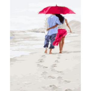 """GX23590 Картина по номерам """"Вдвоем на пляже"""" , 40х50 см"""