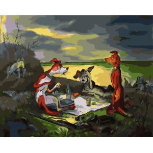 "GX5744 Картина по номерам ""Правда об охоте"", 40х50 см"