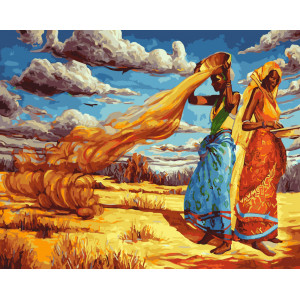 "GX5750 Картина по номерам ""Африканские будни"", 40х50 см"
