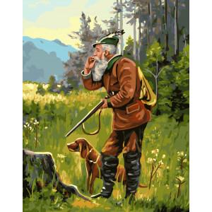 """GX5779 Картина по номерам """"Охотник"""", 40х50 см"""