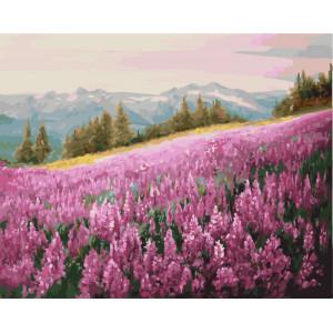"GX5784 Картина по номерам ""Горная лаванда"", 40х50 см"