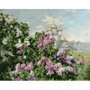 """GX5787 Картина по номерам """"Деревенская церковь"""", 40х50 см"""