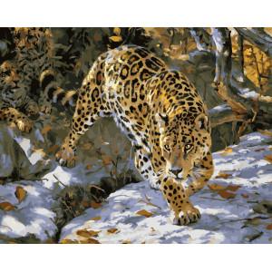 "GX5827 картина по номерам на холсте ""Леопарды"" 40х50 см"