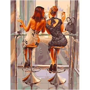 """GX5891 Картина по номерам """"Подружки"""", 40х50 см"""