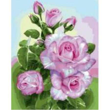 """GX22079 """"Ветка розовых роз"""", 40х50 см"""