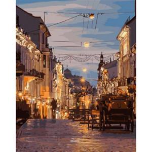 "GХ3757 ""Повозка на вечерней улице"" , 40х50 см купить в Омске недорого"
