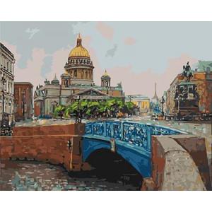 """GХ3914 """"Синий мост"""" , 40х50 см купить в Омске недорого"""