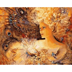 """GХ3915 """"Девушка с алмазным цветком"""", 40х50 см купить в Смоленске недорого"""